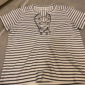 Stripped Madewell Blouse